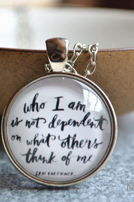 Statement Necklace - Quote Picture Necklace -Cabochon Jewelry- Statement Jewelry - Photo Glass Dome Necklace / Keychain / Pocket Watch Gift