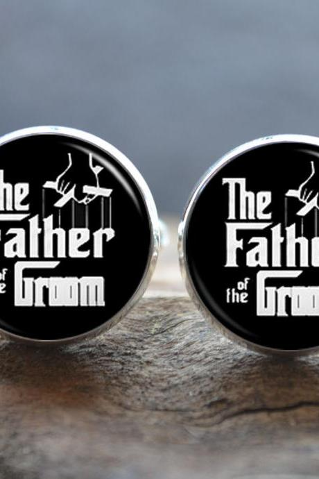 Father of the Groom Cufflinks -Men cufflinks Tie Clip set - wedding cuff links - fathers day gift - gifts for dad - gift ideas for Dads