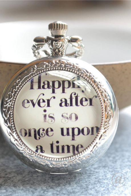 Quote Pocket Watch, Quote Watch Necklace, Photo Quartz Watch Jewelry, Cabochon Keychain/Pendant Necklace/Pocket Watch Jewelry Gift