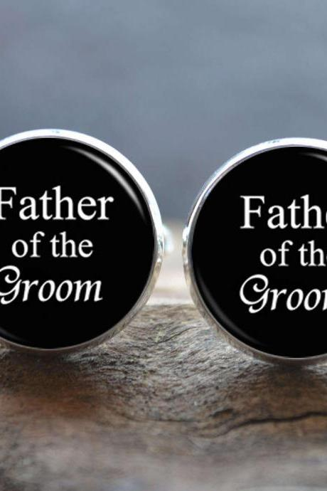 Wedding cuff links - Father of the Groom Cufflinks -Men cufflinks Tie Clip set - fathers day gift - gifts for dad - gift ideas for Dads